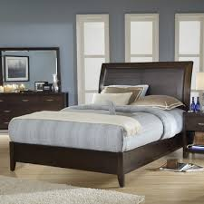 upholstered leather sleigh bed. Upholstered Leather Sleigh Bed