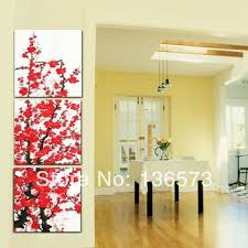 red wall art decor flower canvas