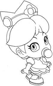 Baby Princess Peach with Mario coloring pages   Mario Bros games ...