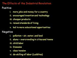 essay on positive and negative effects of the industrial revolution