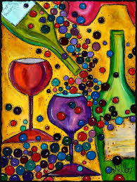 new limited offer original painting petite syrah whimsical wine themed happy painting for those who love wine