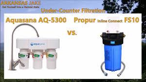 The Best Under Sink Water Filter Aquasana Vs Propur