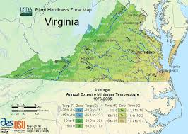 Usda Plant Hardiness Zone Map For Virginia