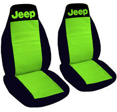 jeep wrangler seat covers lime green