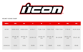 Icon Variant Size Chart Icon Airform Helmet Solids