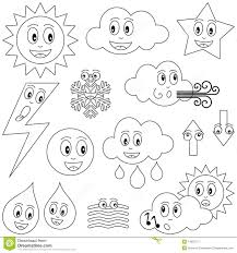 Water Drop Coloring Page Coloring Weather Characters Stock Vector Illustration Of