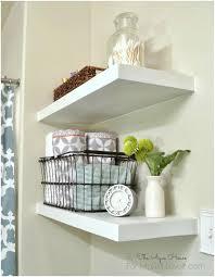 Decorative Bathroom Shelving Floating Shelf For Vessel Sink Oak Wood Wall Decorative Mounted