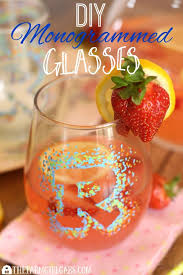 diy monogrammed sharpie glasses are perfect for entertaining all year long this easy diy craft