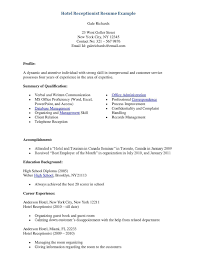 Receptionist Resume Examples Sample Resume Entry Level Receptionist New Entry Level Medical 46
