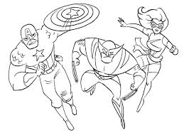 Small Picture Printable Coloring Pages Of Superheroes glumme