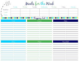 Free Weekly Meal Planner With Grocery List 45 Printable Weekly Meal Planner Templates Kittybabylove
