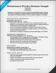 maintenance worker resume building maintenance worker resume sample ipasphoto