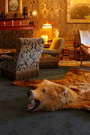bear skin rug in a dutch palace more on interiorator com