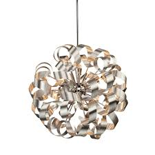 ac601 bel air 12 light brushed nickel pendant