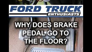 why does my brake pedal go to the floor