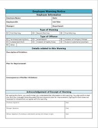 Employee Write Up Form 40 Employee Write Up Form Templates Word Excel Pdf