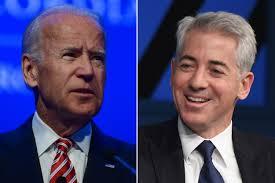 Joe Biden shuts down wiseass Bill Ackman after tasteless joke.