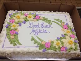 Good Luck Cake Designs Full Sheet Spring Flowers Cake Decorating Designs