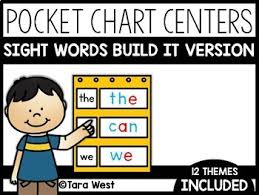 Sight Words Pocket Chart Centers Build It