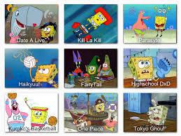 Spongebob Anime Comparison Chart 1 Spongebob Comparison