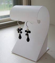 Earring Display Stand Diy Tutorial for cardboard earring holder I love this idea but the 11