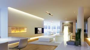 simple modern living room. Stunning Lighting Design Of Living Room With Simple Modern Decoration Ideas For Open Floor Stylish Furniture