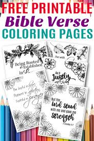 Print the pages single sided 8.5 x 11 letter sized copy or printer paper. Free Printable Bible Verse Coloring Sheets Simple Mom Project