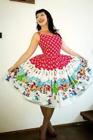 Pinup Dress Amelia Dress Winter Gnomes Holiday Rockabilly Dress Christmas Border