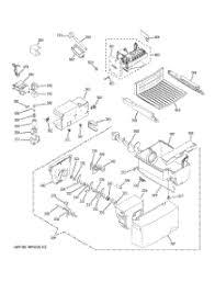 parts for ge gssietaww refrigerator com 04 zer shelves parts 05 ice maker dispenser parts for ge refrigerator gss20ietaww from com