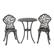 iron metal bistro sets for