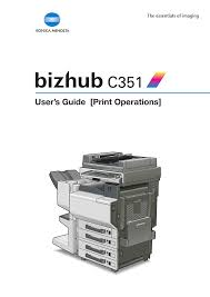 Find everything from driver to manuals of all of our bizhub or accurio products. Konica Minolta C360 Series Pcl Page 1 Line 17qq Com