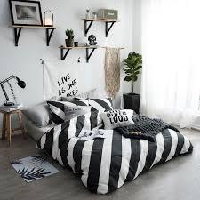 black white stripe bedding sets twin queen size single double bed bed linen luxury fashion high end cotton duvet cover set king comforter sets purple