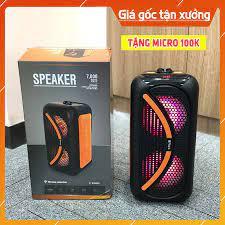 Loa karaoke SPEAKER 7000W mini di động Tặng Kèm 1 Micro Không Dây FREESHIP Loa  bluetooth đa năng chính hãng BH 6 tháng