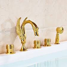 number of handles three and one handheld shower faucet material brass surface treatment polished hot and cold water yes