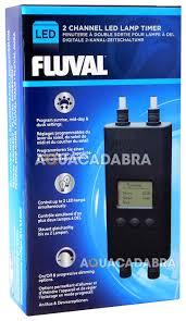 fluval digital dual 2 channel led lamp timer eco bright aquasky fish tank light