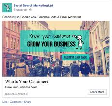 ad sample sample facebook ad copy social search marketing