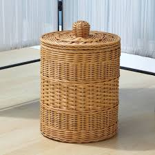 Rattan Basket Storage Natural Cylinder Bathroom Is Versatile To ...