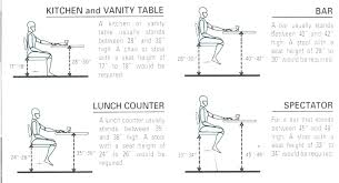 Table Chair Height Chart Bar Stool Sizes Commercial Bar Stool Spacing Bar Chair