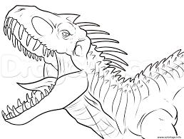 Coloriages C3 A0 Imprimer Animaux Dinosaures T Rex Page 1 L