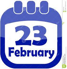 Calendario Del 23 De Febrero Del Icono Ilustración del Vector - Ilustración de  febrero, calendario: 22844500
