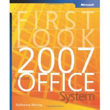 free microsoft office 2007 e learning and e book nogeekleftbehindcom free e book first look 2007 microsoft office system adobe pdf file 6mb 213 pages isbn 0 7356 2265 5 author katherine murray