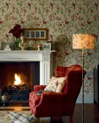 living room wall decoration ideas fl vintage wallpaper fireplace
