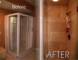 bathroom remodel tile shower. Bath Shower 2 Remodel Bef Aft Tile Ceiling Ideas Waplag Excerpt Bathroom