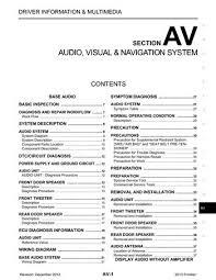 2013 nissan frontier audio visual system (section av) pdf 2014 Nissan Frontier Wiring Diagram 2013 nissan frontier audio visual system (section av) (310 pages) 2014 nissan frontier wiring diagram