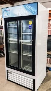 Glass Refrigerator 2014 Everest Emgr33 39w Two Door Glass Merchandiser Refrigerator