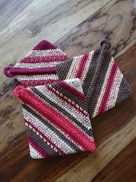 Double Thick Crochet Potholder Pattern Adorable Ravelry Doublethick Diagonally Crocheted Potholder Pattern By