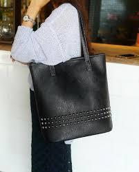 the rivet tote bags leather tote bag for women with rivets leather handbag