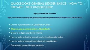 How To Make A General Ledger Entry In Quickbooks A General