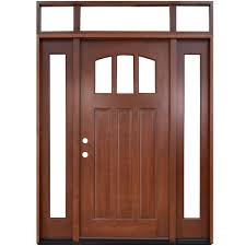 craftsman 3 lite arch stained mahogany