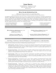 Hospital Administration Sample Resume 0 Healthcare
